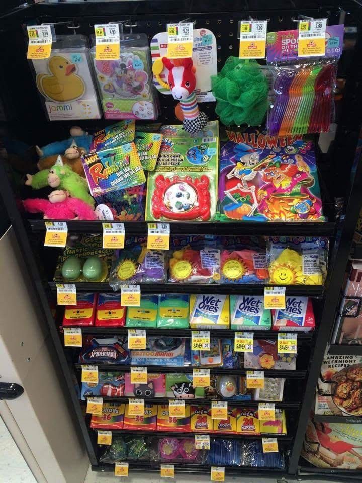 The sensory-friendly offerings in new checkout aisle at the Shop Rite in Brookhaven, Pennsylvania.