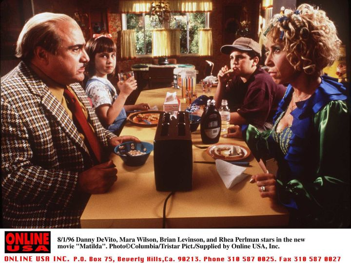 "Wilson described Rhea Perlman (front right) as ""so warm and loving and accepting"" after playing her daughter in ""Matilda."""