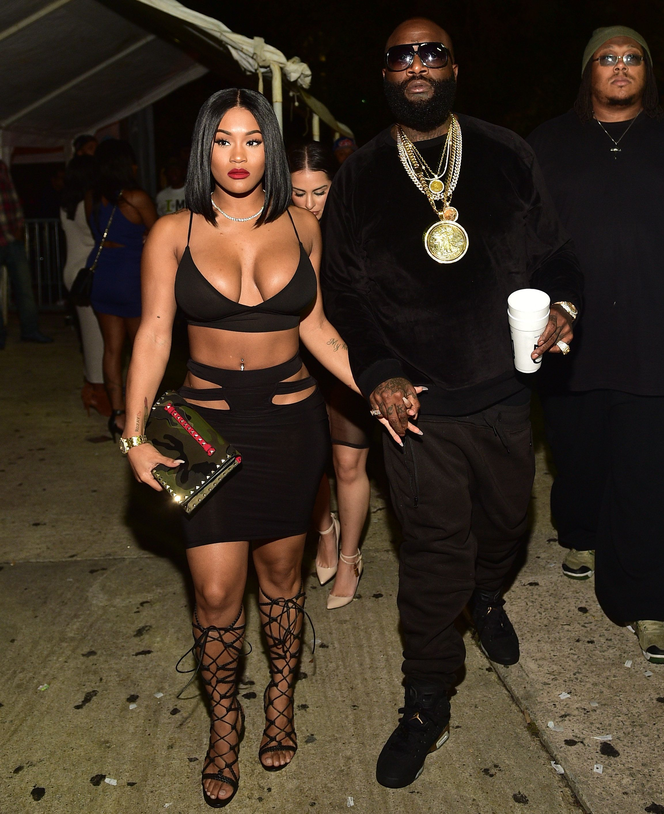 Lira 'Galore' Mercer and Rick Ross attend BET Hip Hop Awards Weekend TakeOver at Compound on October 10, 2015 in Atlanta, Georgia.
