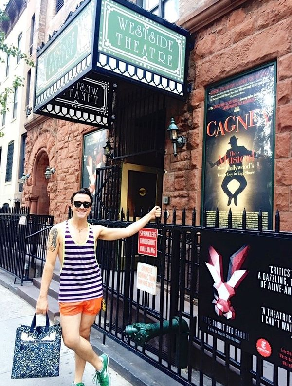 """""""Here we are at my home away from home, <a href=""""http://westsidetheatre.com/"""" target=""""_blank"""">the Westside Theatre</a>. Not t"""