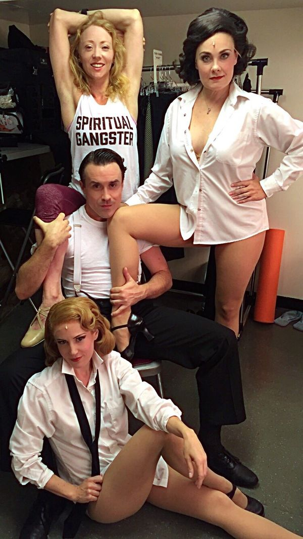 """""""Ladies and gentlemen, the women of 'Cagney' -- Karen, Danette and Ellen -- serving armpits, legs and side boob with great pa"""