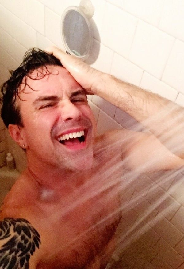 """""""Better shower up cuz it's a two-show day! Which means this body's gonna get extra sweaty today. Delicious!"""""""