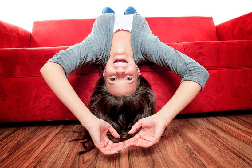 Turning your life upside down...literally, is a good thing for the skin!