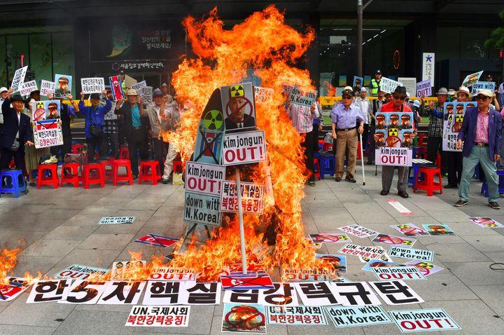 "South Korean President Park Geun-hye said North Korean leader Kim Jong Un is ""mentally out of control."""