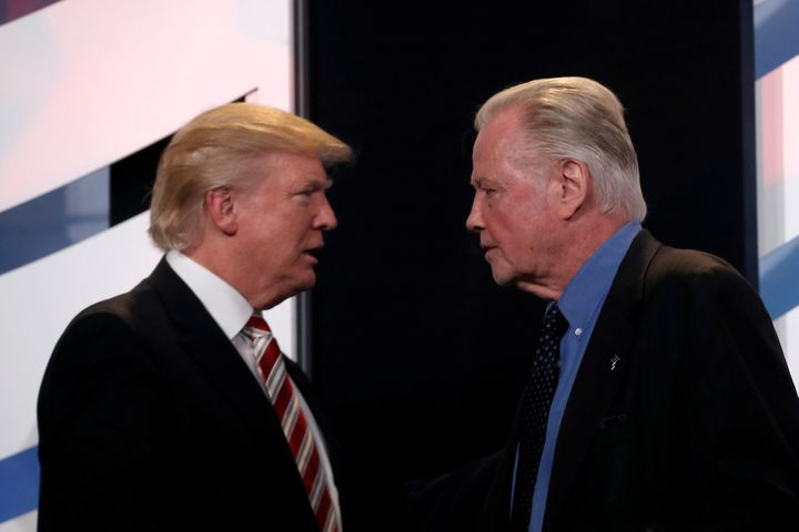 """You're always going to have people picking apart this great man,"" actor Jon Voight (right) send of Trump.&"