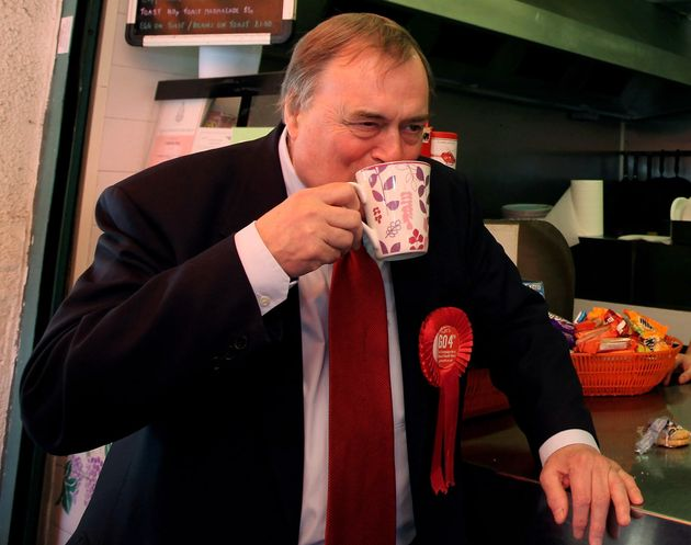 Prescott was helping serve the teas on a particularly busy train service (file