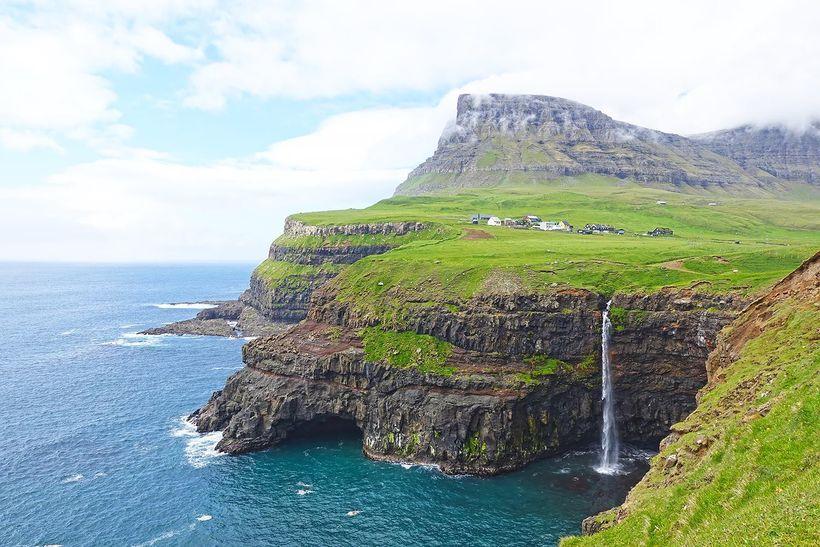 Mulafossur Waterfall, Faroe Islands