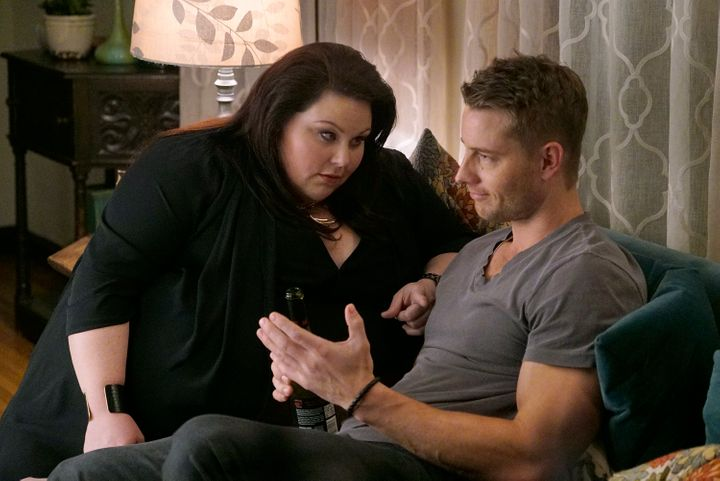 Justin Hartley and Chrissy Metz as Kate and Kevin.