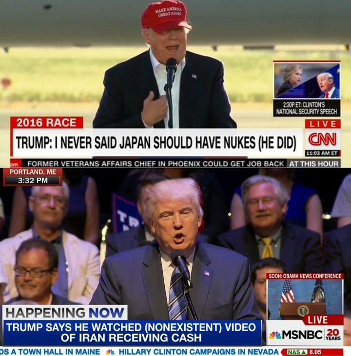 CNN and MSNBC have fact-checked Trump in real time.