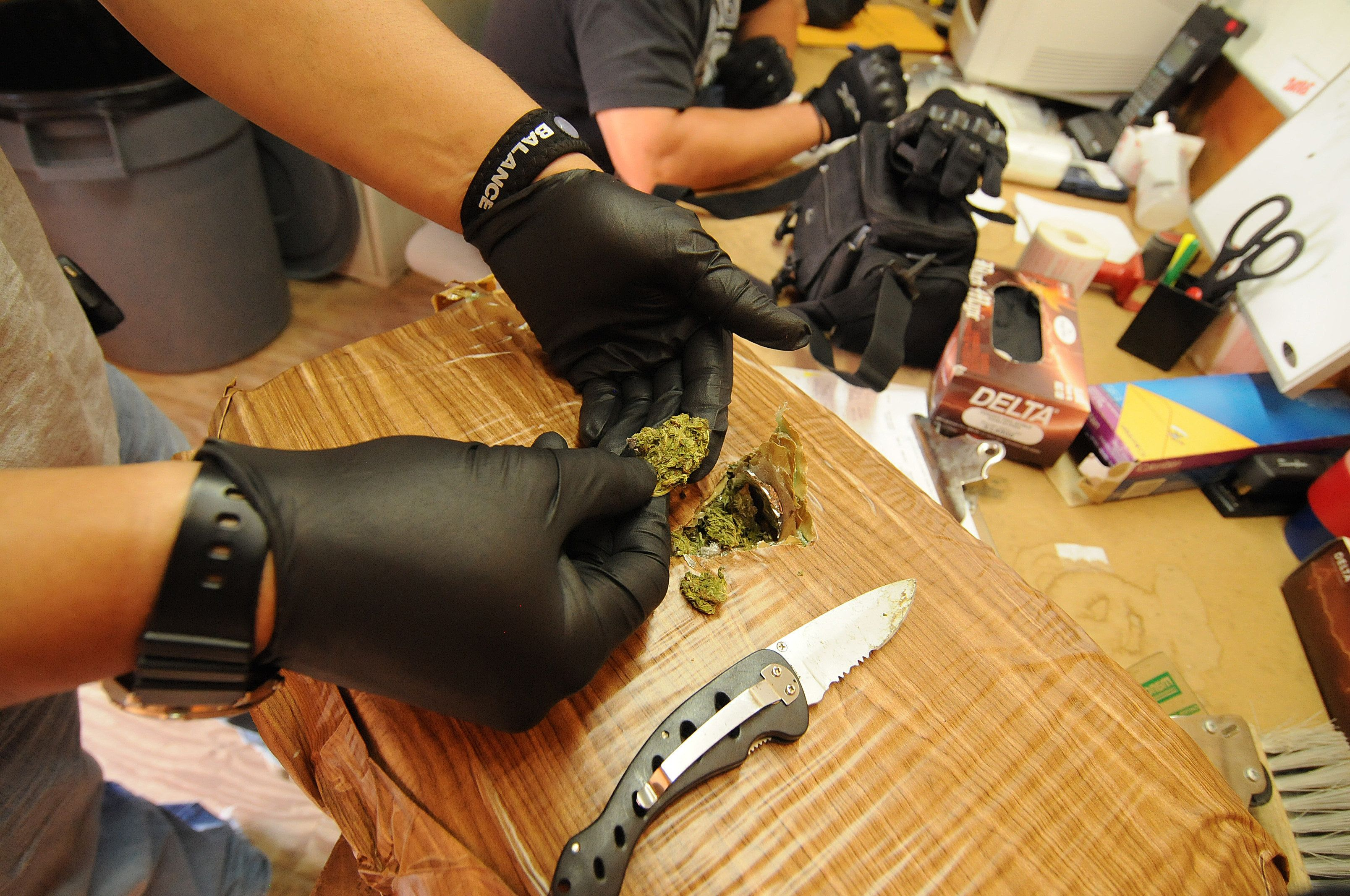 Law enforcement officials in Arizona process marijuana seized from Mexico. Would legal pot reduce imports from Mexico?