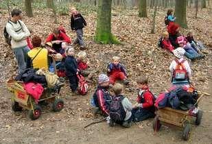 A forest kindergarten in Dusseldorf Germany