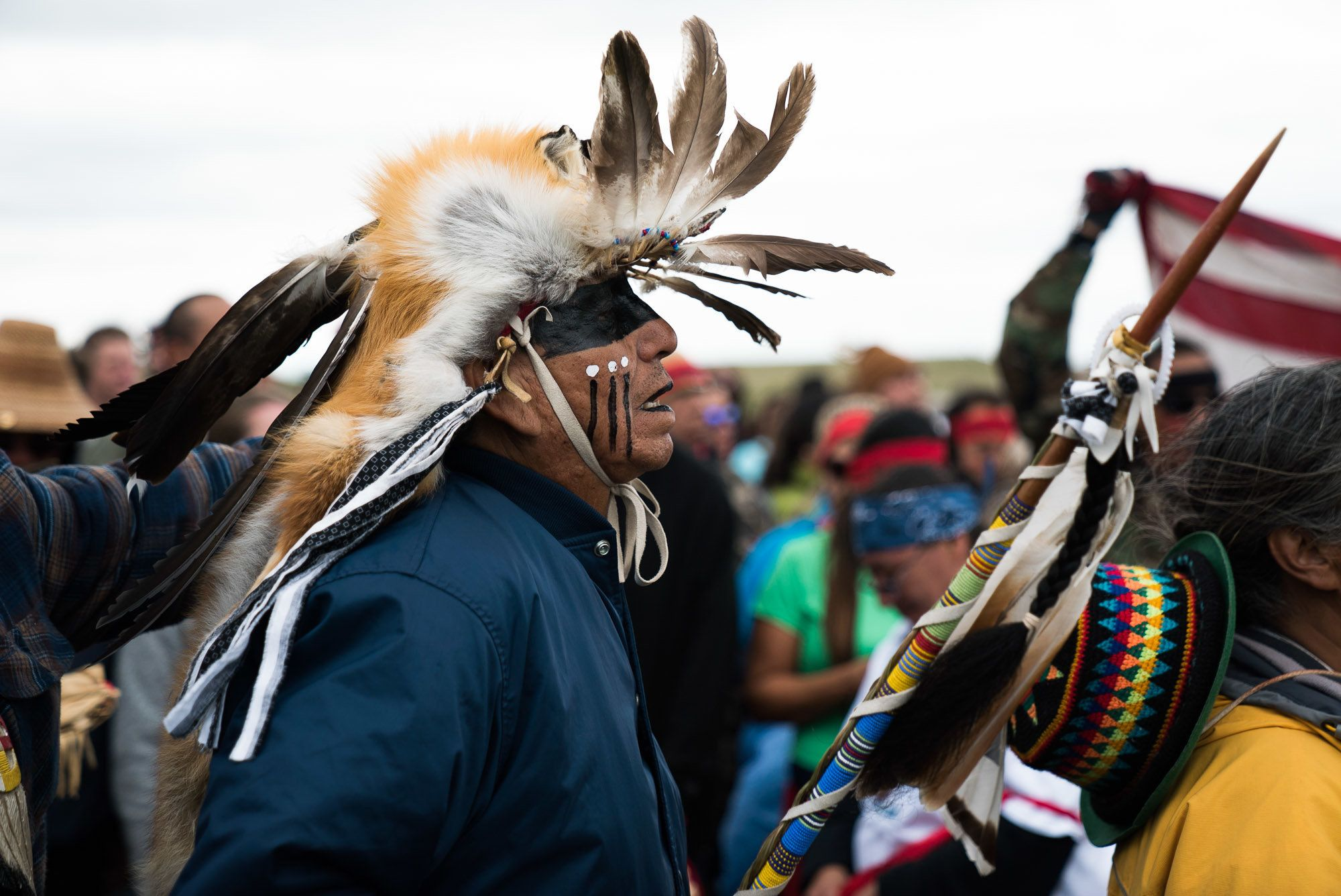 Thousands of people, includingNative American tribes, have rallied to prevent the oil pipeline's