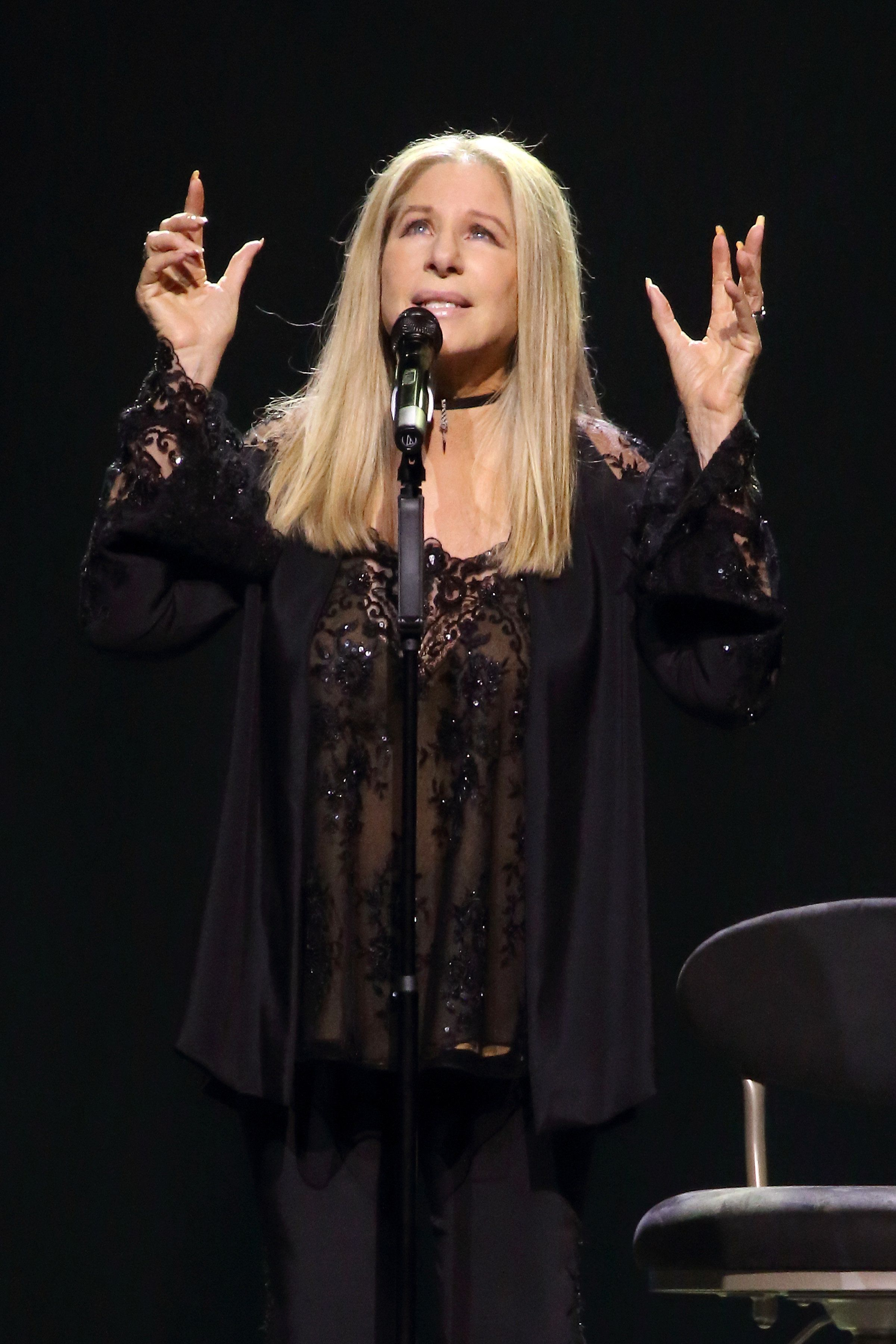 WASHINGTON, DC - AUGUST 18:  Barbra Streisand performs onstage during her 'Barbra - The Music... The Mem'ries... The Magic!' tour at Verizon Center on August 18, 2016 in Washington, DC.  (Photo by Paul Morigi/WireImage for BSB )