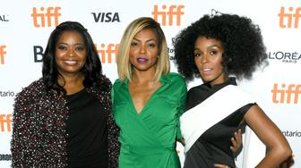 TORONTO, ON - SEPTEMBER 10:  (L-R) Actresses Octavia Spencer, Taraji P. Henson and Janelle Monáe attend the 'Hidden Figures' premiere during the 2016 Toronto International Film Festival at TIFF Bell Lightbox on September 10, 2016 in Toronto, Canada.  (Photo by George Pimentel/WireImage)