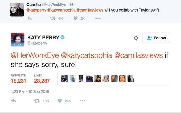 Katy Perry Says She'd Collaborate With Taylor Swift Under This One Simple