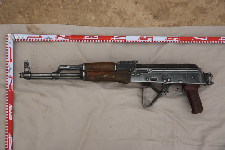 A gun used by Islamic State found in Syria.
