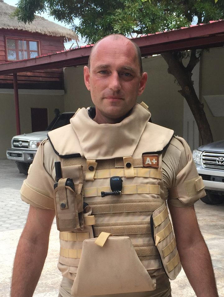 James Bevan works to track the flow of illegal weapons into conflicts.