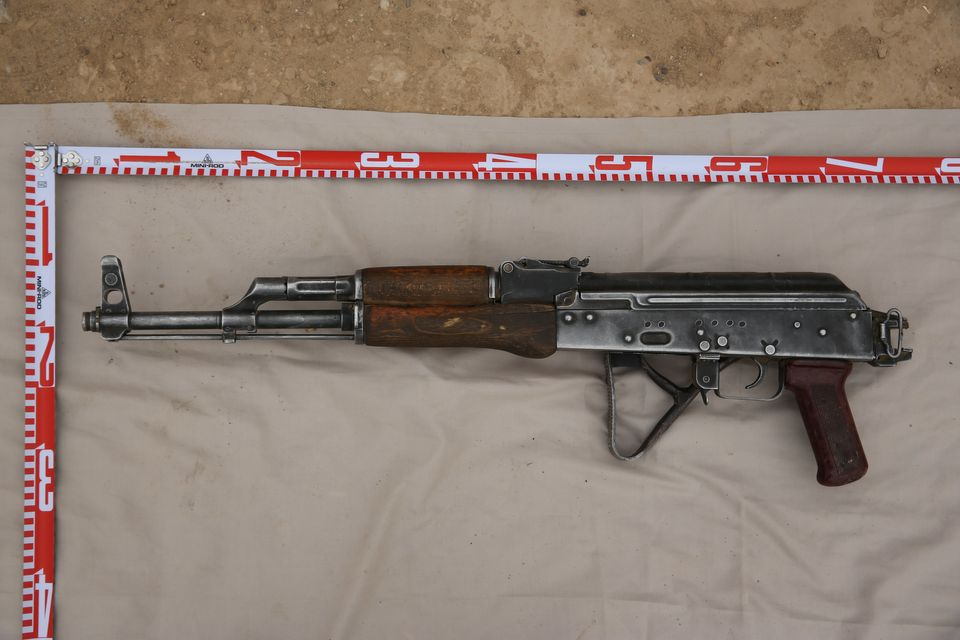 A gun recovered from Islamic State in