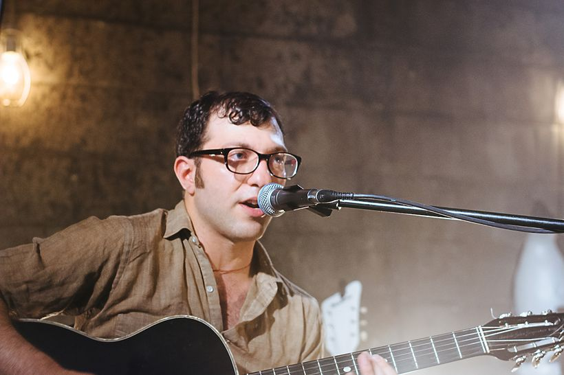 Amos Rose performing at Radio Free Brooklyn showcase