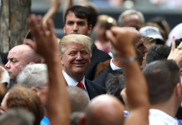 Republican presidential nominee Donald Trump attends the 9/11 memorial event in New