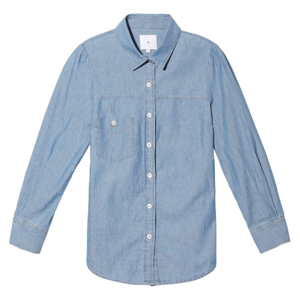 Elise Chambray Button-Down, $195