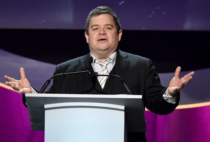 Patton Oswalt speaks at the 2016 Writers Guild Awards on Feb. 13 in Los Angeles.