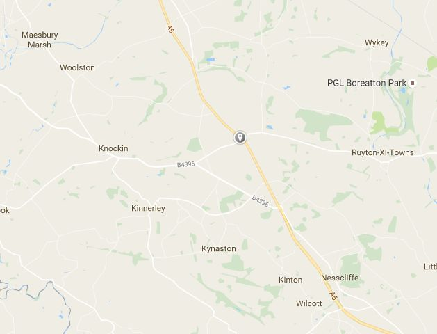 The incident took place on the A5 near