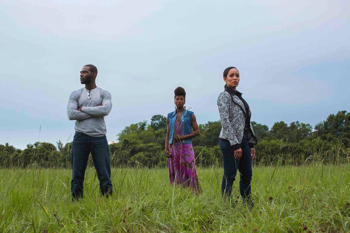 L-R: Kofi Siriboe, Rutina Wesley and Dawn-Lyen Gardner
