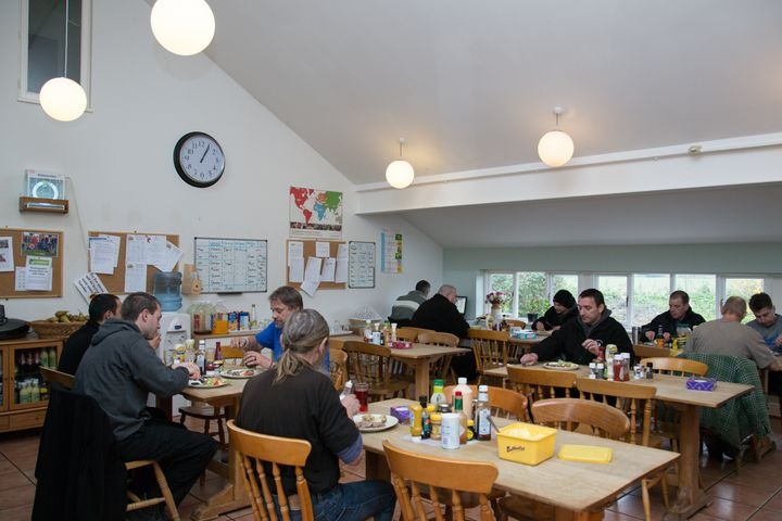 The dining room at Emmaus