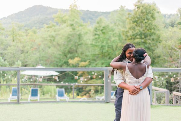 """Sasha and Maya were married on September 10 at Sugarboo Farms in Blairsville, Georgia. Their favorite destination is anywher"
