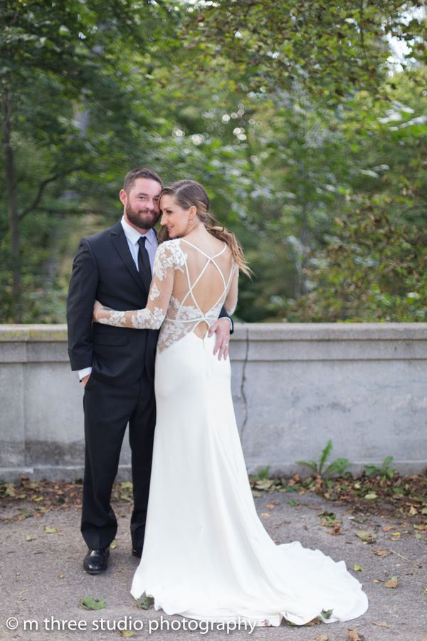 """Shawna and Trevor had a romantic and stylish wedding day, laughing and kissing between the alternating rain and sunshine."" &"