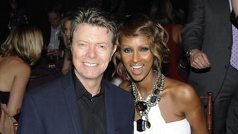 (EXCLUSIVE, Premium Rates Apply) NEW YORK - NOVEMBER 13:  *Exclusive* (NO ITALY SALES) David Bowie and Iman inside Keep A Child Alive's 5th annual Black Ball at Hammerstein Ballroom on November 13, 2008 in New York City.  (Photo by Kevin Mazur/WireImage)
