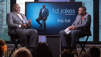 NEW YORK, NY - SEPTEMBER 08:  T.D. Jakes attends the AOL Build Speaker Series to discuss the premiere of 'T.D. Jakes' at AOL HQ on September 8, 2016 in New York City.  (Photo by Mike Pont/WireImage)