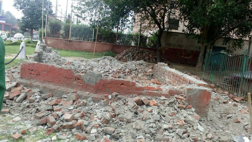 Waste collection site demolished by NDMC