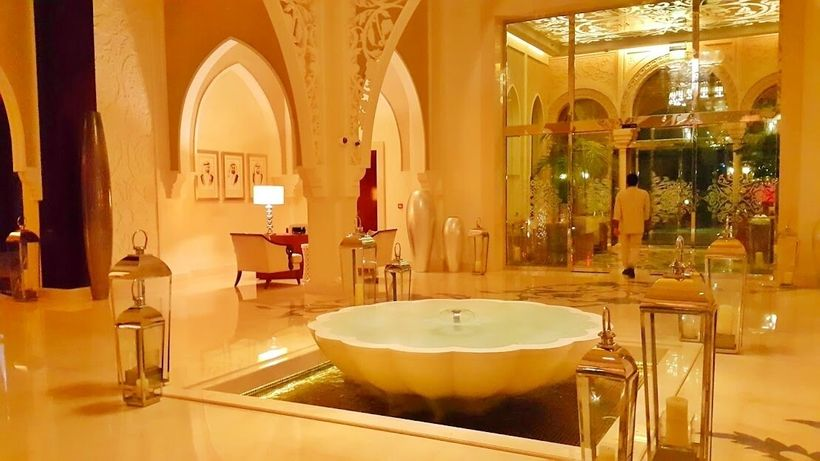 Elegant hotel lobby that exudes serenity