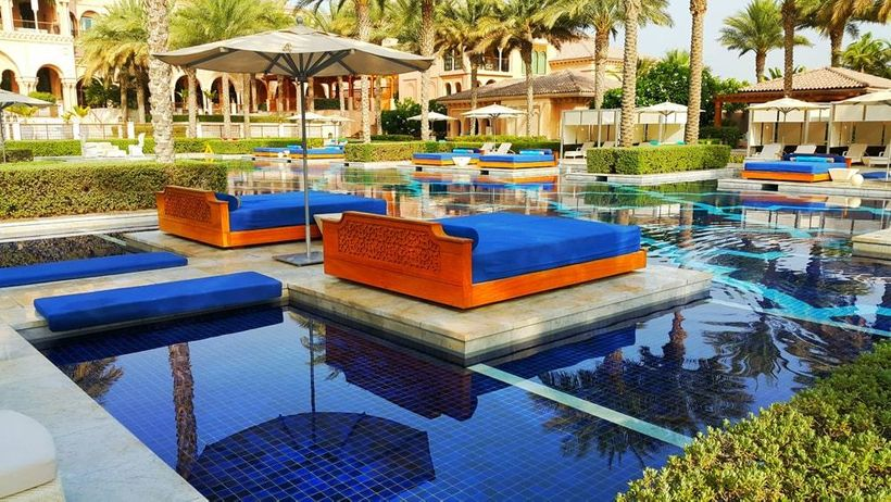 Private pool beds that offers luxurious relaxation
