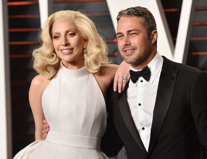 Lady Gaga and Taylor Kinney arrive at the 2016 Vanity Fair Oscar Party on Feb. 28, 2016 in Beverly Hills, CA.&