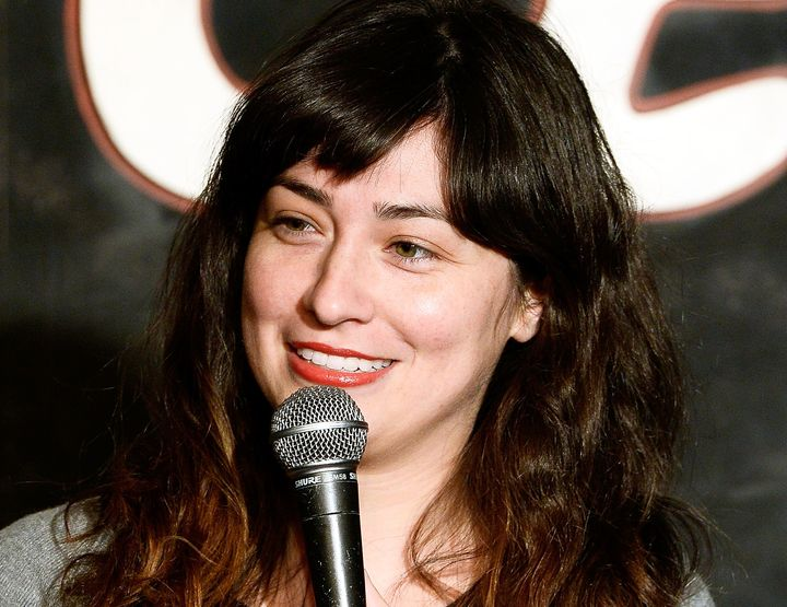 Melissa Villasenor performs at the Ice House Comedy Club in Pasadena, California.