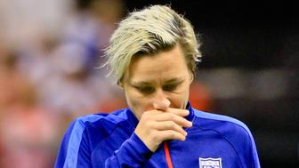 Dec 16, 2015; New Orleans, LA, USA;  United States of America forward Abby Wambach (20) walks off the field following her final appearance with the team following a game against the China PR in the final game of the World Cup Victory Tour that took place at the Mercedes-Benz Superdome. China PR defeated United States of America 1-0. Mandatory Credit: Derick E. Hingle-USA TODAY Sports