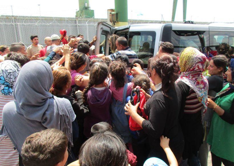 Chaos at the van