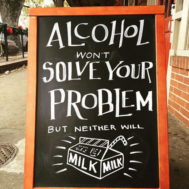 This Bar S Hilarious Chalkboard Signs Will Have You Drunk In Love
