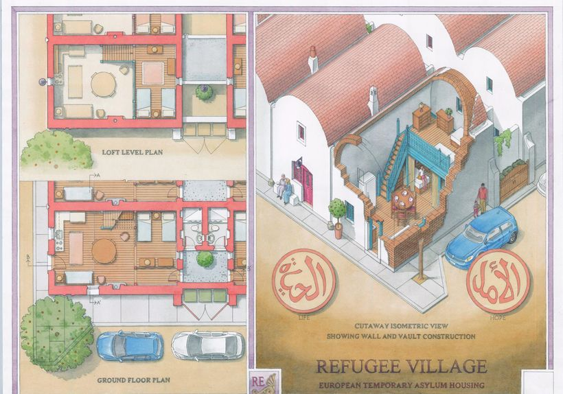 Refugee Village plan and design
