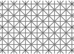 Try To Find The 12 Dots In This Grid And You'll Swear You're Hallucinating