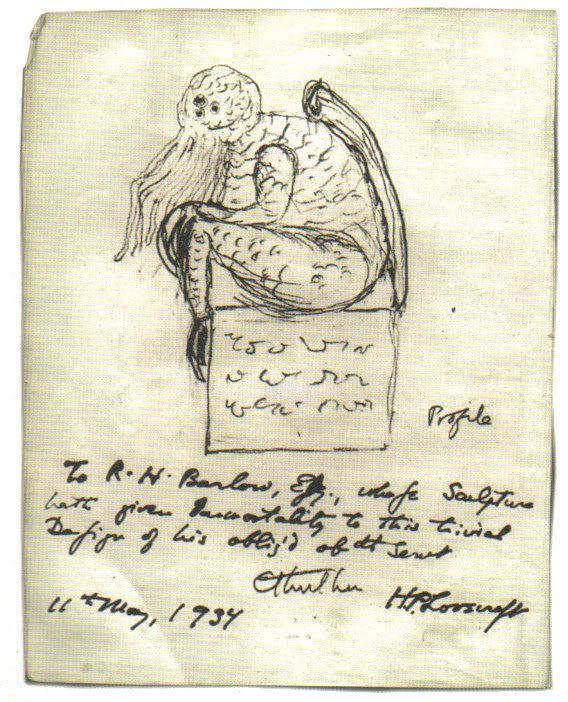 A sketch of Cthulhu created by H.P. Lovecraft. Author Stephen King said Republican presidential candidate Donald Trump is Cth