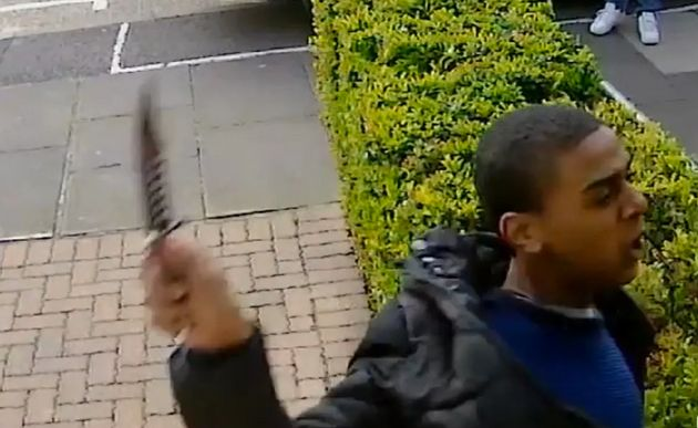 The man caught on CCTV slashing a 21-year-old man across the face with a