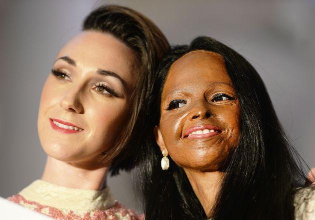Adele (left) and Laxmi on the