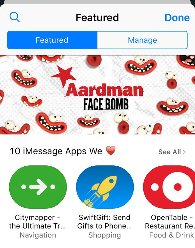 Apple iOS 10 iMessage Apps And iMessage App Store