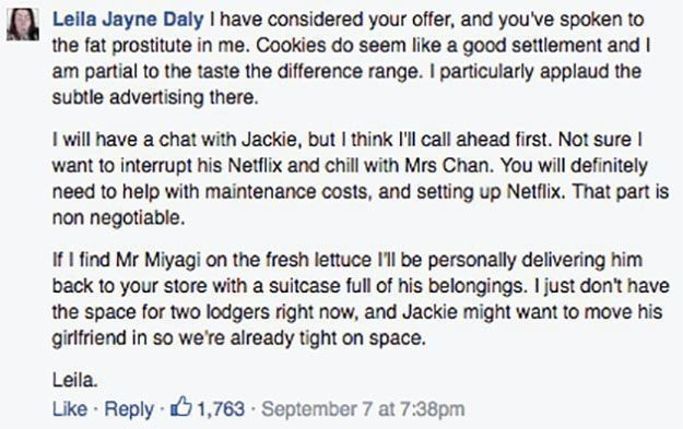 Woman Complains To Sainsbury's About Worm In Lettuce, Ends Up In A Fantasy Exchange With The