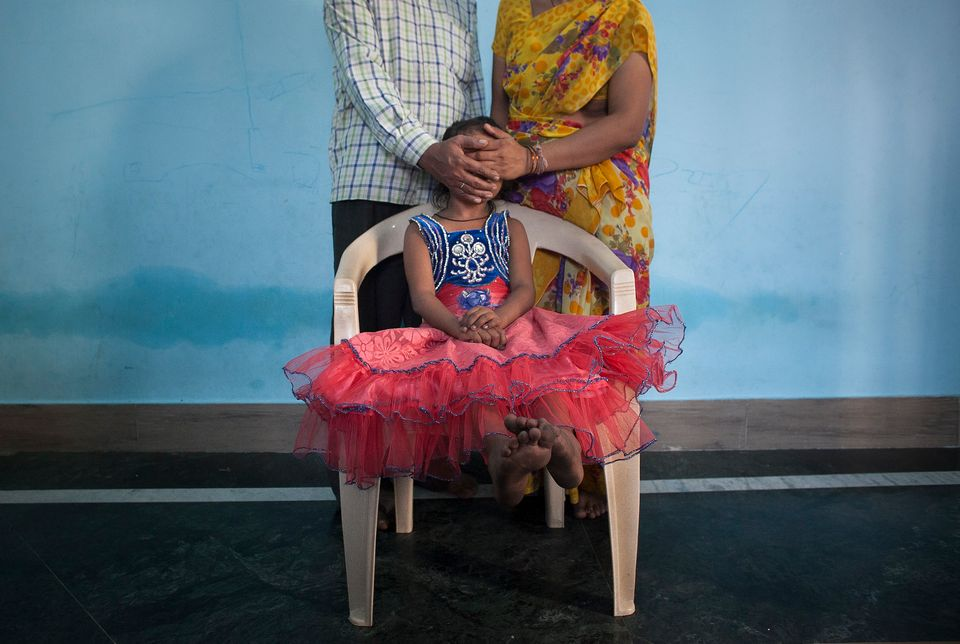 MAHARASHTRA, INDIA - NOVEMBER 12:  5 year old Nirmala (name changed), who was raped by her mother's boss, poses for a photo w