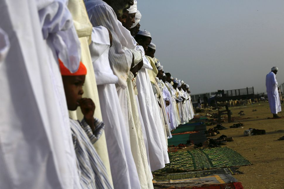 Eid prayers in Khartoum, Sudan, Sept. 12, 2016.
